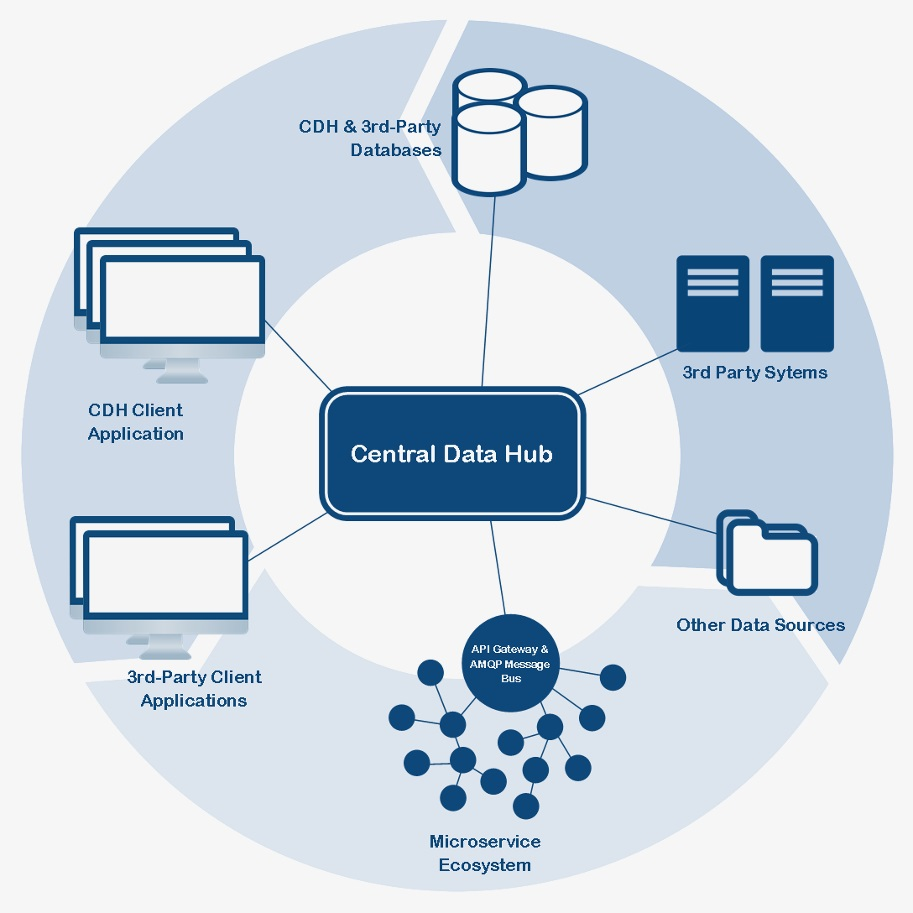 Central Data Hub Topology